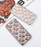 2016 Newest fashion heart Electroplating TPU case cover Luxury cell phone case for samsung J7