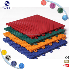 Shock absorption Interlocking polyurethane lightweight sport flooring