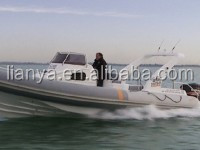 Liya 27ft luxury rib boat cabin boat with prices China builder