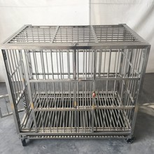 Custom Large Steel dog cage/Strong Stainless steel dog cage/Breeding Pet cage