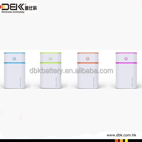 colorful 7800mah mobile power bank PB-AS023 5V/2.1A external power station with 4 LEDs indicates the power