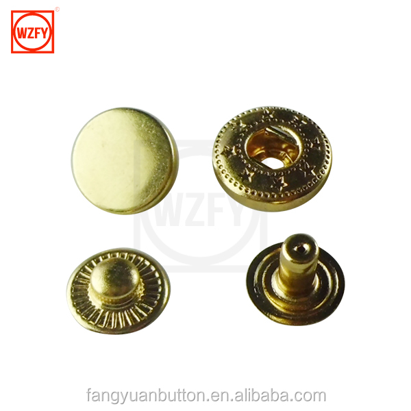 wholesale snap shirt buttons for shirts coat Metal Brass Snap Button With Four Parts,Fashion Snaps For Leather