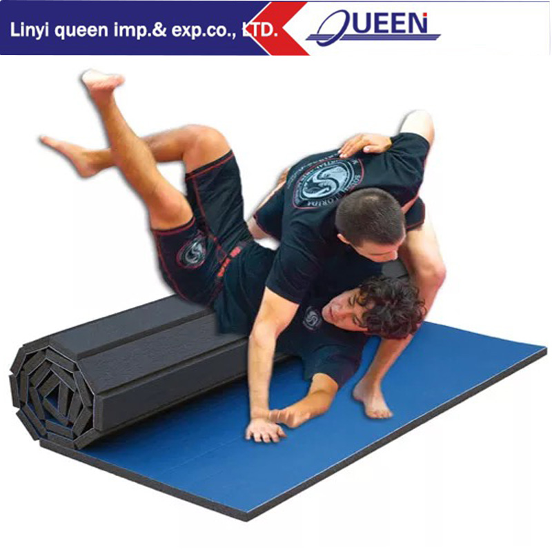 High quality flexi roll mats gymnastics non-toxic gym rubber floor mat wrestling mat