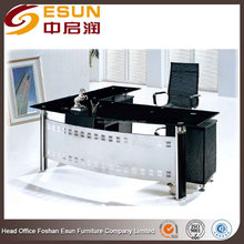 Modern glass top office table design with Tempered glass