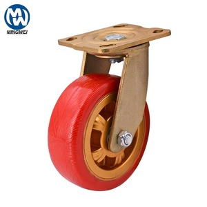 MS Heavy Duty Trolley Caster with Brake Fixed Caster Wheel