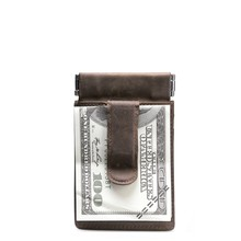 slim leather card holder with coin pocket