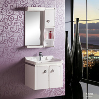 Newest small size Wall Mounted Bathroom Cabinet, PVC shower vanity, bathroom vanity