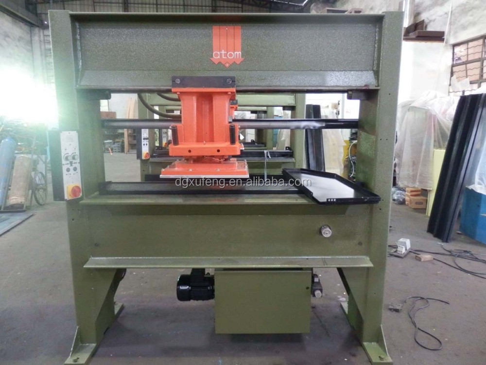 cutter machine for making leather bags, leather clicking machine