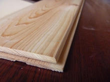 hinoki/cypress tongue and groove panelling