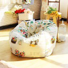 sewing machine printed overstuffed living room chairs, indoor sofa furniture bean bag lounger