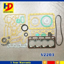 Excavator Spare Parts For Kubota V2203 Full Gasket Kit Engine Gaskets