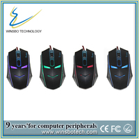 Ergonomic Design, Perfect Touch 4D Wired Gaming Mouse for Gamer