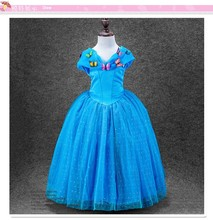 La fiesta de cumpleaños de cinderella girls princess dress for kids walson