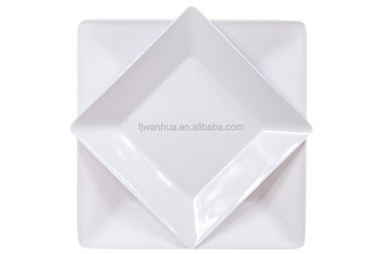 Melamine square dinnerware sets