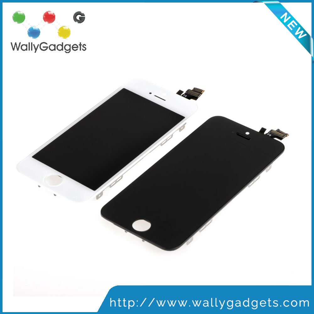 WallyGadget Brand High Quality LCD For iPhone 5 Complete Display Touch Screen Digitizer Assembly Replacement Fast Shipping