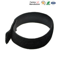 customized elastic band sewn hook and loop strap