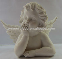 2014 resin white small angel figurine