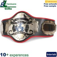 High quality gold boxing champion belt with gold buckle