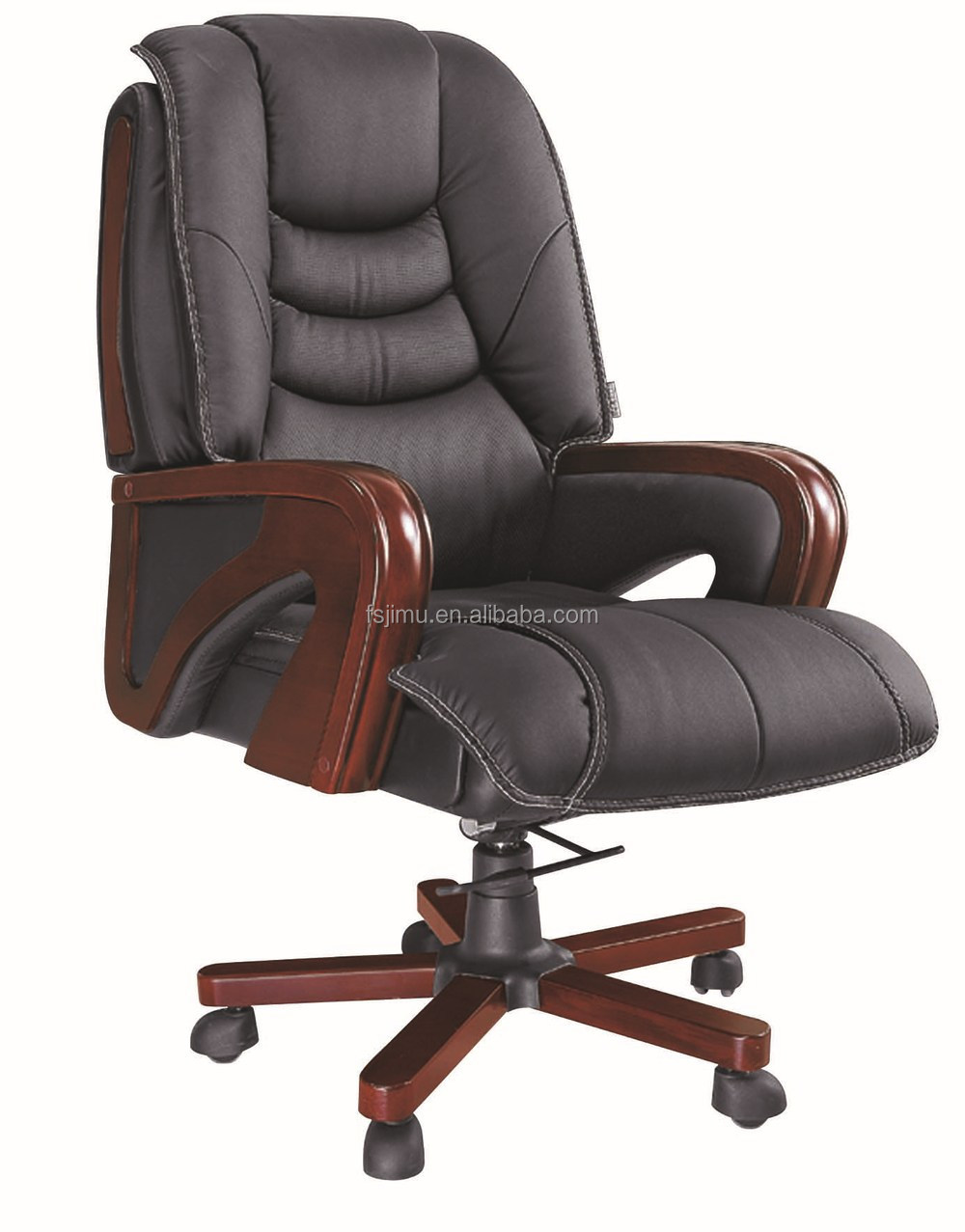 Office furniture top grain luxury leather executive chair for Luxury leather office chairs