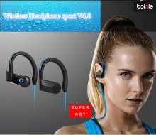 High quality Headphone sport V4.0 Headset Stereo Athlete Earphone for Phone wireless sport bluetooth earphone