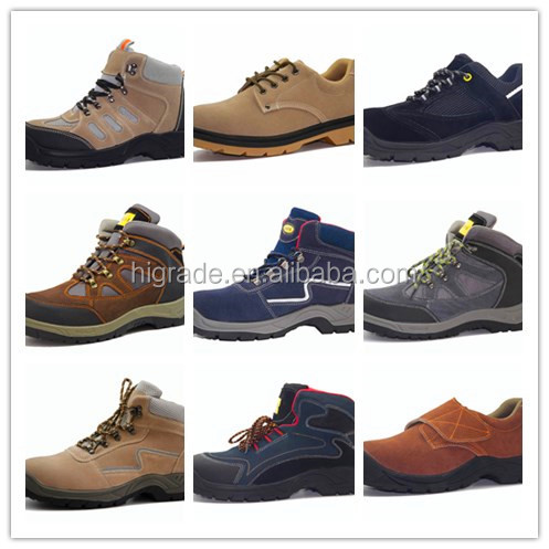 China Suede leather safety shoes supplier PU outer sole for men