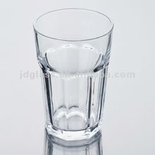 2012 Clear decorated fancy glass cup Y5033