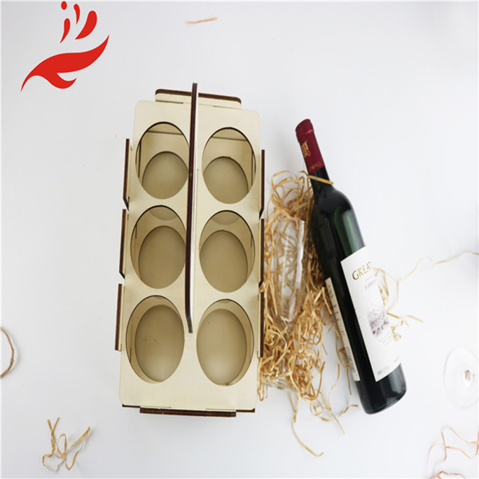 Wood Wine Box Cheap Six bottles Wood Wine Gift Box