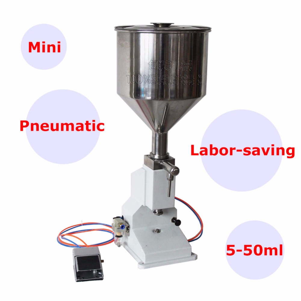 <strong>A02</strong> Pneumatic Semi Automatic Liquid Paste Filling Machine For Cream Shampoo Cosmetic
