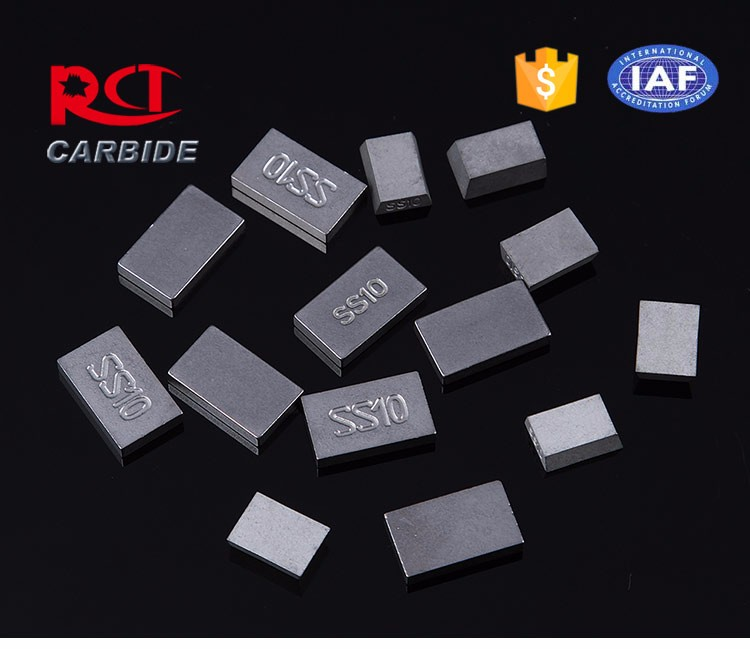 Tungsten carbide ss10 brazed tips for stone cutting
