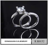 Artificial white gold wedding ring/couple ring wedding ring set free sample