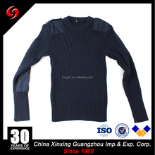 Navy Blue military sweater custom color army dress pullover for outdoor hiking