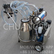 High Quality Portable Diesel Engine Cow Milking Machine for Sale