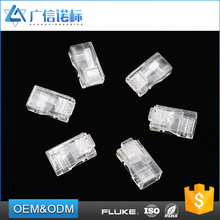Computer high speed lan cable connector Unshield rj45 male cat5e cat6 modular plug crystal head