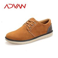 British style Men's Swede Leather Shoes Rubber Outsole Casual Loafers Sneakers for Men Flats Shoes