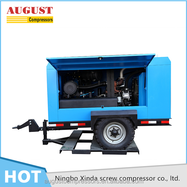 AUGUST high quality 48 KW mining diesel mobile screw compressor