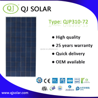 High conversion efficiency 310W Polycrystalline solar panel solar pv module for home solar system with TUV CE
