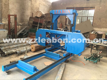 Electric horizontal cutting wood band sawing machine large wood band saw for sale