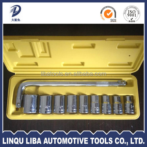 Full polished Indusrial class 6PT wrench impact socket tool set