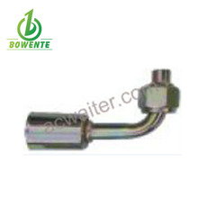 Bowente #6/90 degree, Female, O-Ring, 5/8-18UNF, Iron joint with iron jacket auto air conditioning hose fitting