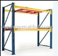 Heave-duty movable warehouse steel pallet storage rack