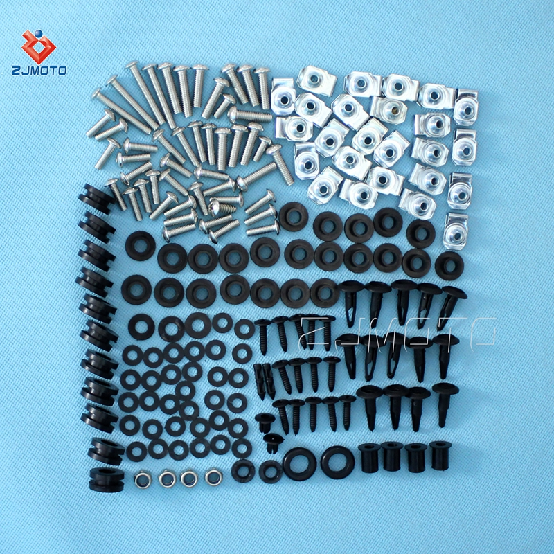 Motorcycle Complete Fairing Bolt Kit Body Screws For 2003-2004 Yamaha YZF-R6