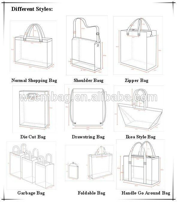 Fashion design Popular Metallized pp non woven bags 50kg
