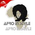 Hot Sale Afro in Style Iron on Glitter Transfers for Custom Women Jackets and Tees
