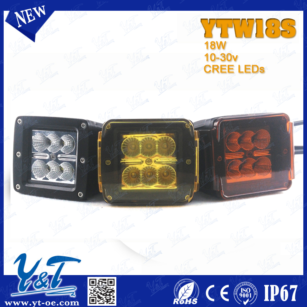 Y&T YTW18S Y&T10w Small Size led light to motor cycle for ATV truck 4WD led lighting bar