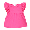 wholesale baby clothing hot pink ruffle flutter sleeve tshirts cheap t shirt