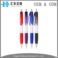 HF7315 custom color rubber grip plastic uni ball pen with logo