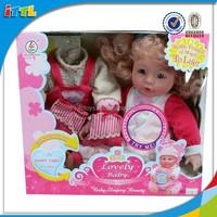 non-toxic 14 inch baby sleeping doll newborn girl toy doll set mini baby dolls