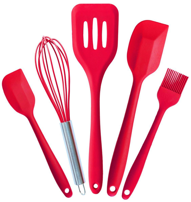 manufacturer wooden kitchen accessory Silicone Kitchen Utensils ...