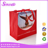 supply advertising products high quality non-woven laminated shopping bag