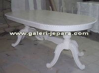 Oval Dining Table - Indonesian Mahogany Furniture - Wooden Mahogany Furniture